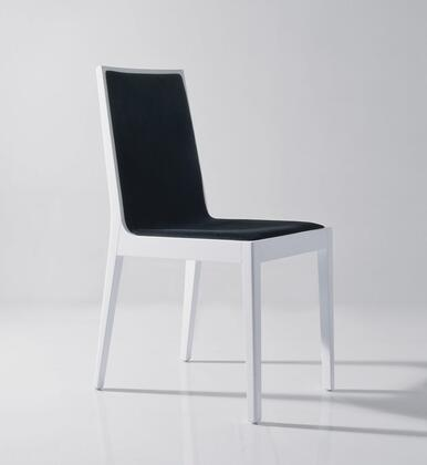 Star Collection 18352-C Dining Chair with Leatherette Upholstery in White and