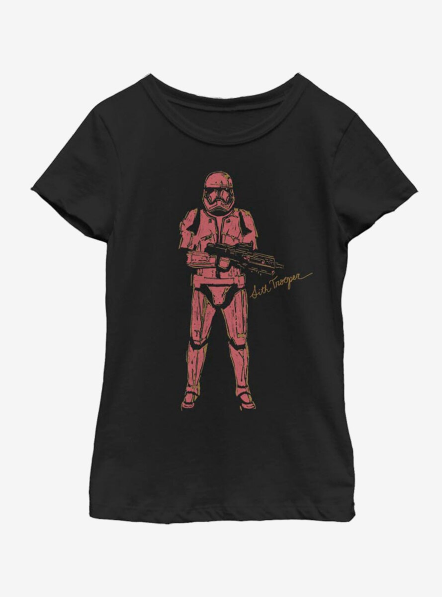 Star Wars The Rise Of Skywalker Red Trooper Youth Girls T-Shirt