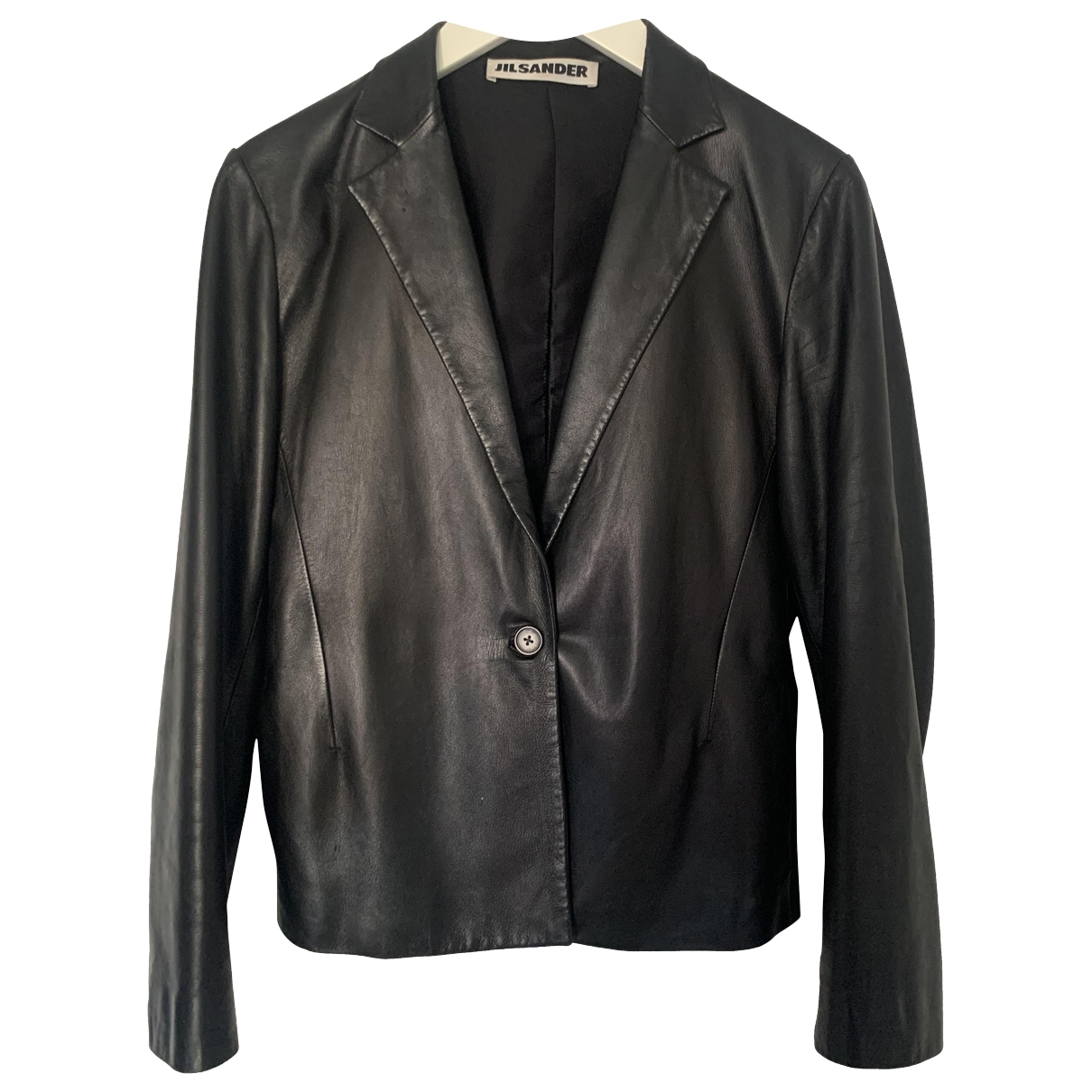 Jil Sander - Veste   pour femme en cuir - noir