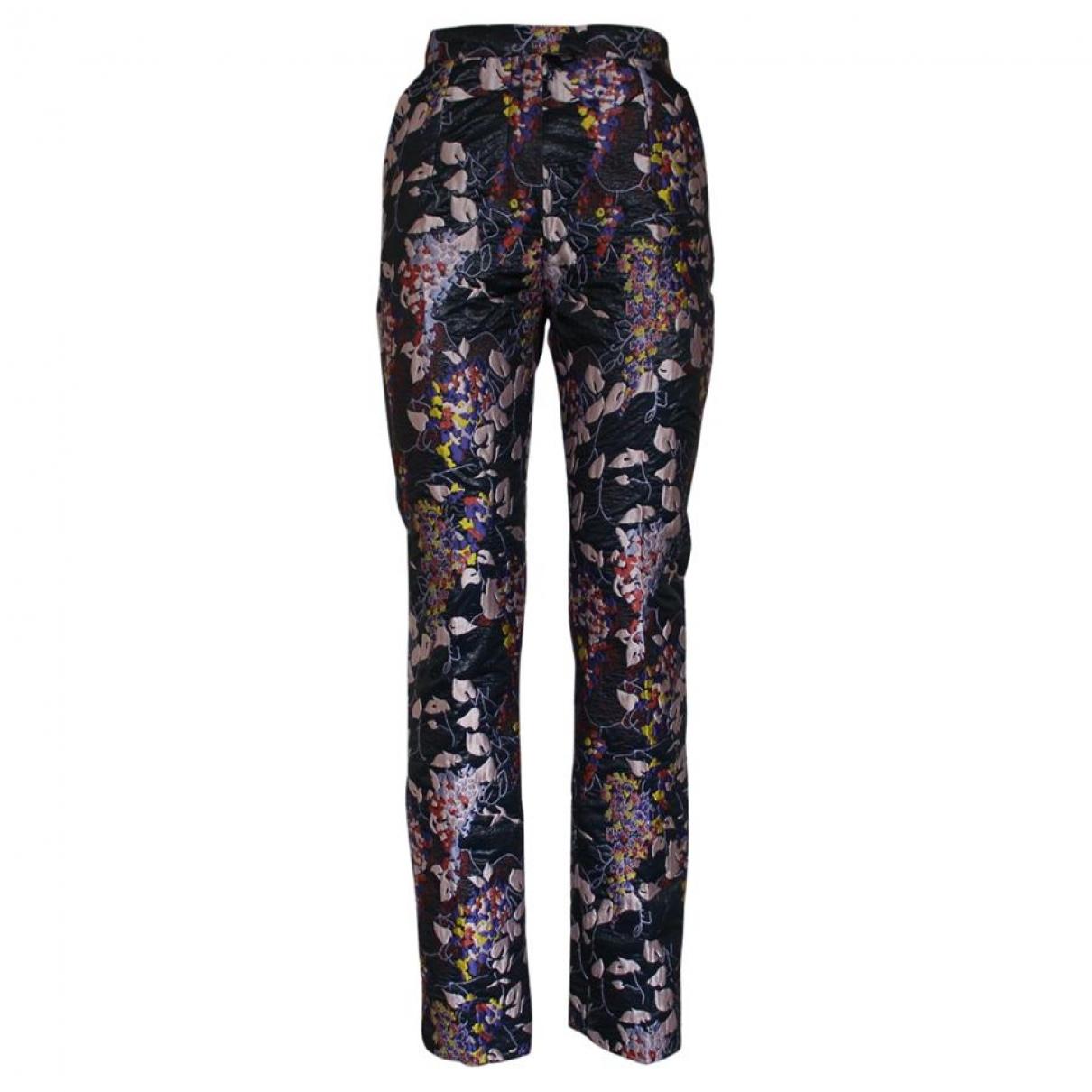Carven \N Multicolour Silk Trousers for Women 40 IT