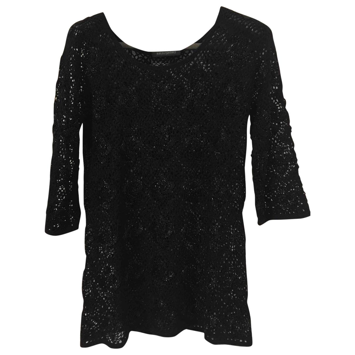 Ermanno Scervino \N Black Cotton Knitwear for Women M International