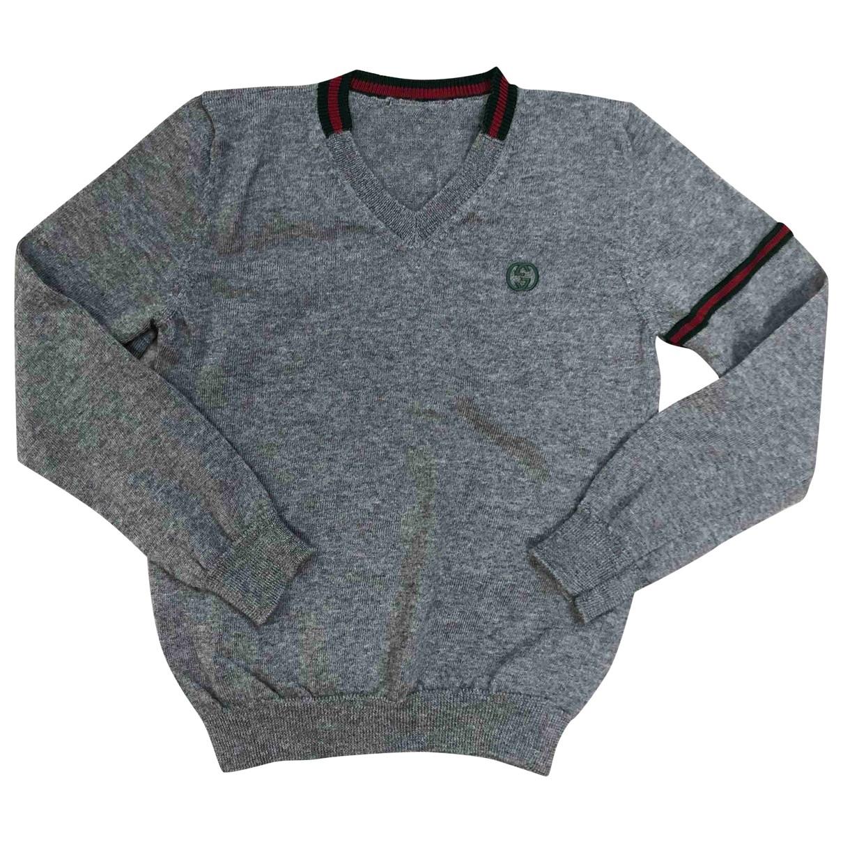 Gucci \N Pullover, StrickJacke in  Grau Wolle