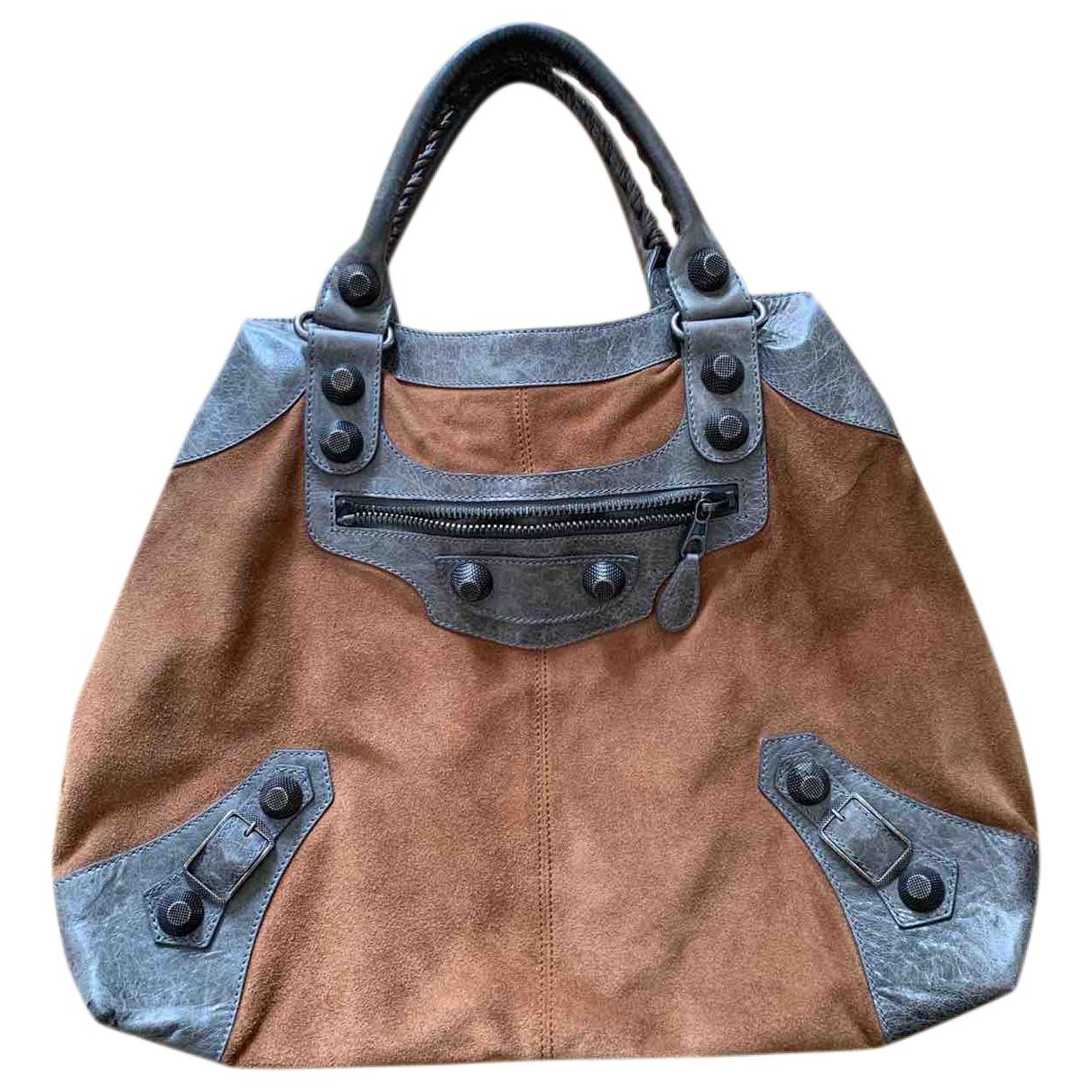 Balenciaga \N Camel Suede handbag for Women \N