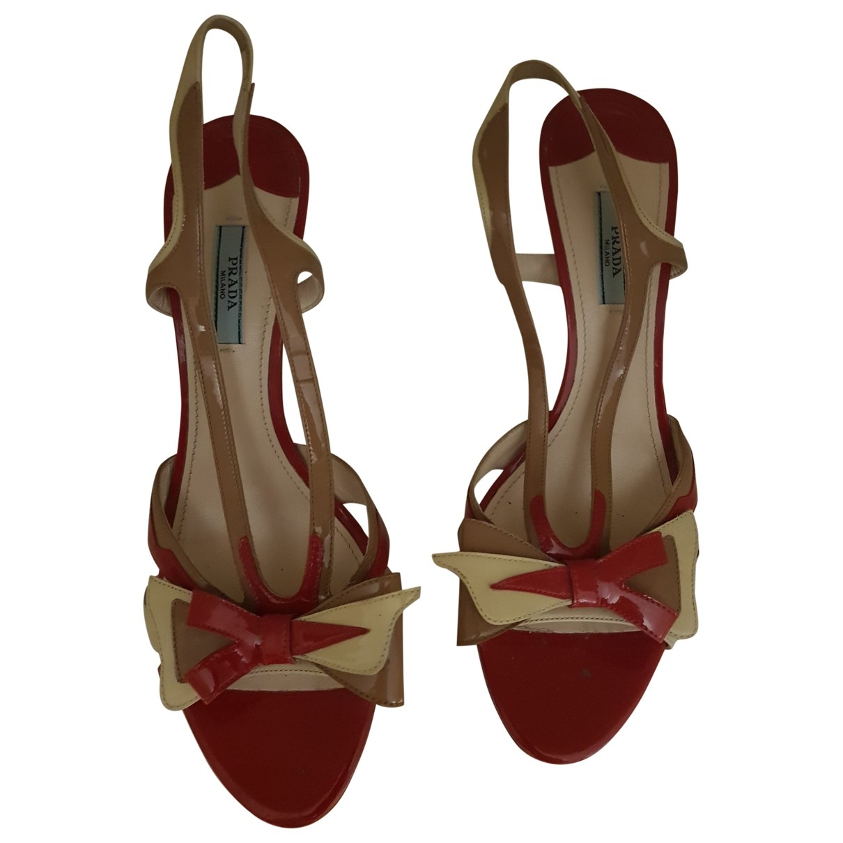 Prada \N Red Patent leather Sandals for Women 41 EU
