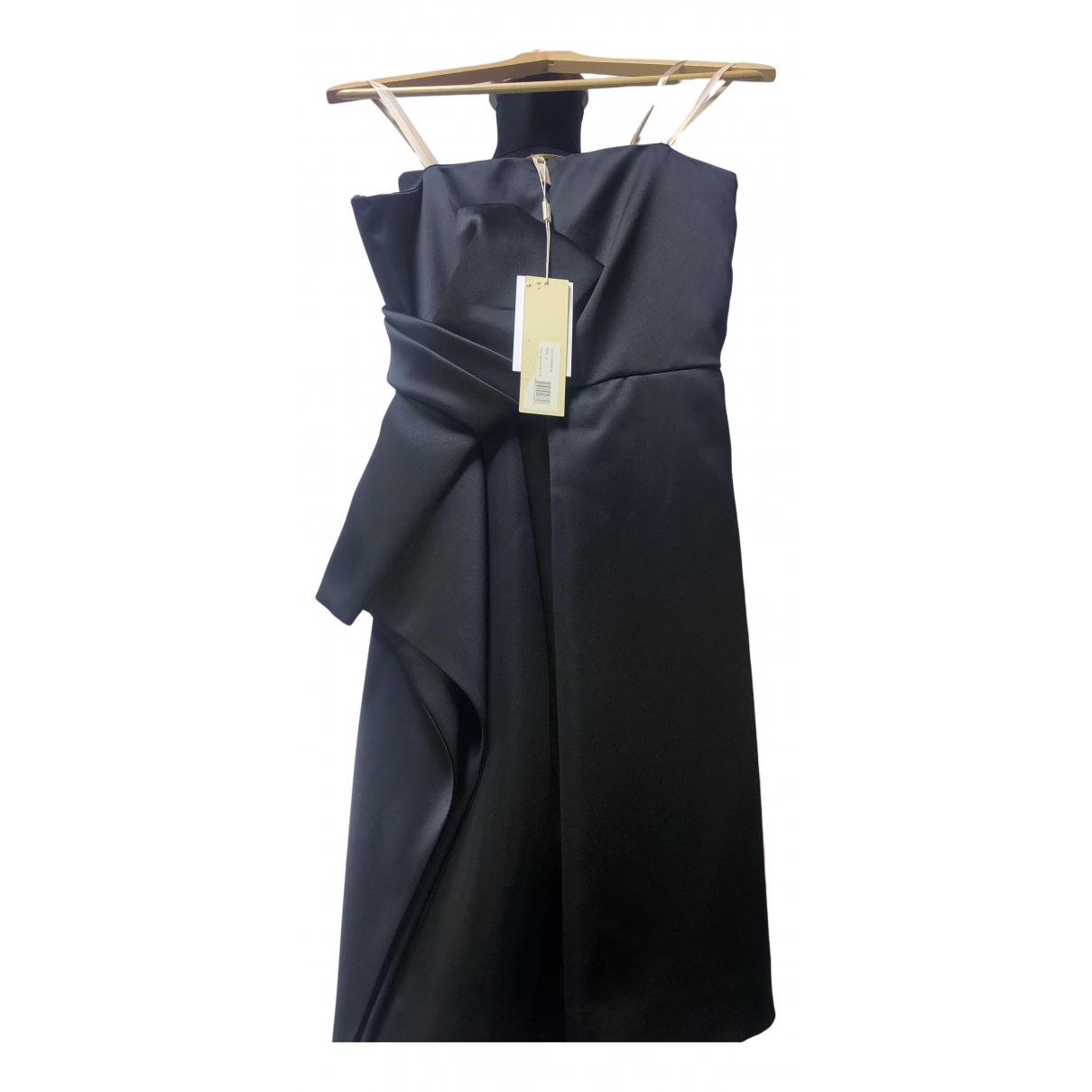 Halston Heritage \N Kleid in  Schwarz Polyester
