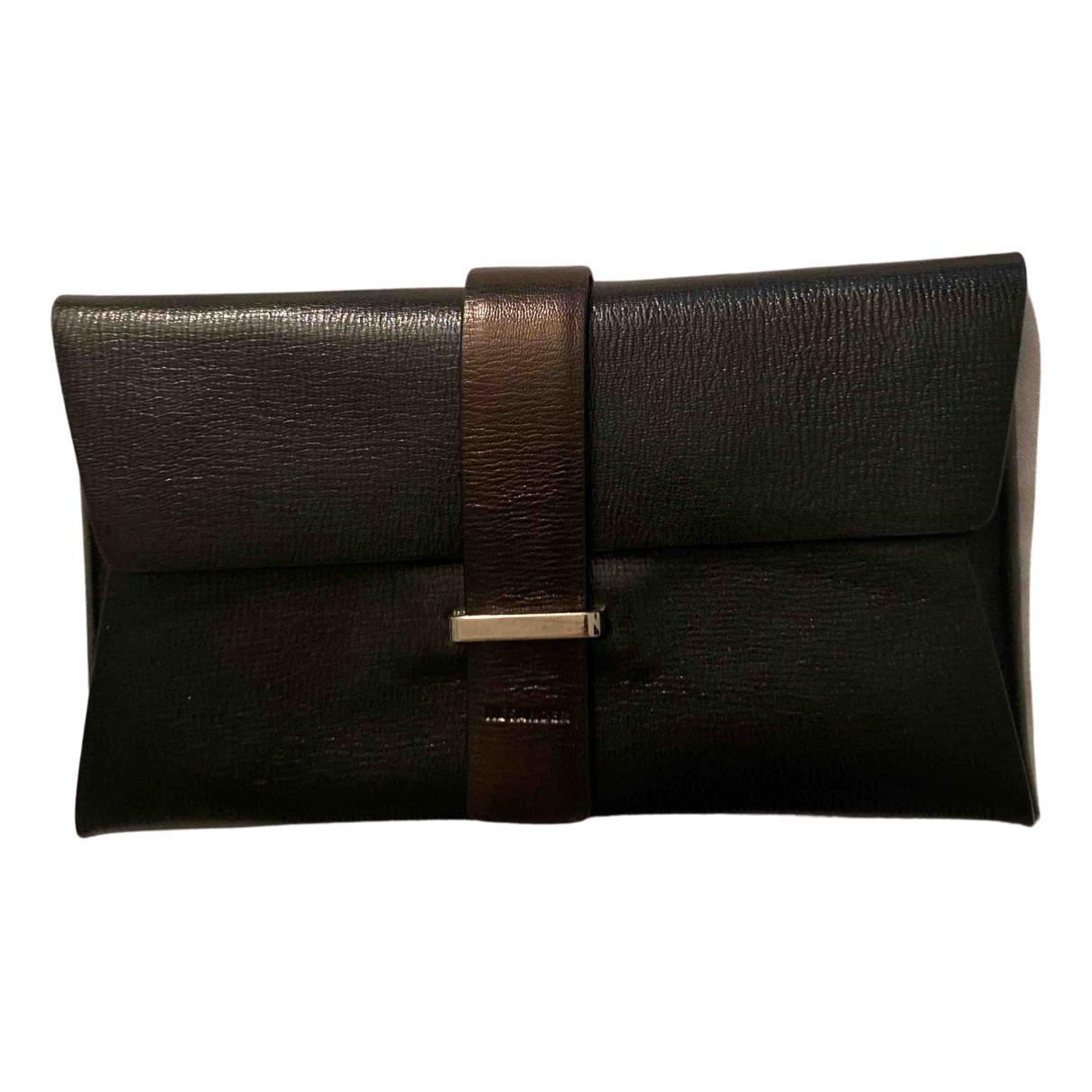 Jil Sander N Black Leather Clutch bag for Women N