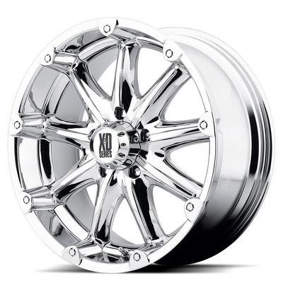 XD Wheels Badlands XD779, 20x9 with 8 on 170 Bolt Pattern - Chrome-XD77929087212NA