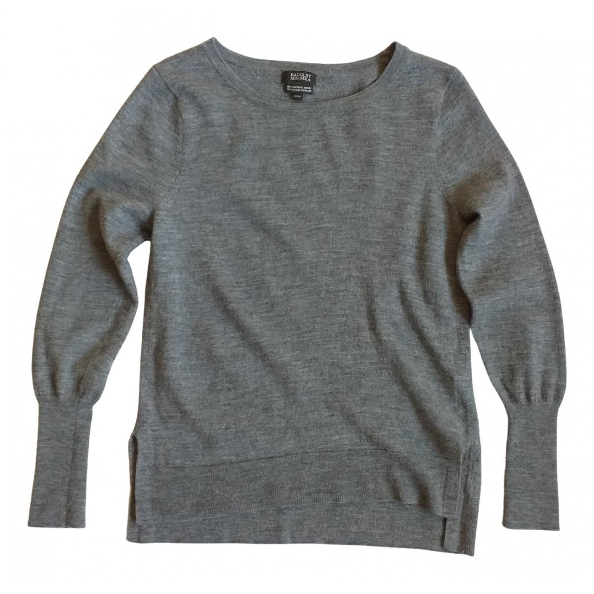 Badgley Mischka - Pull   pour femme en laine - gris