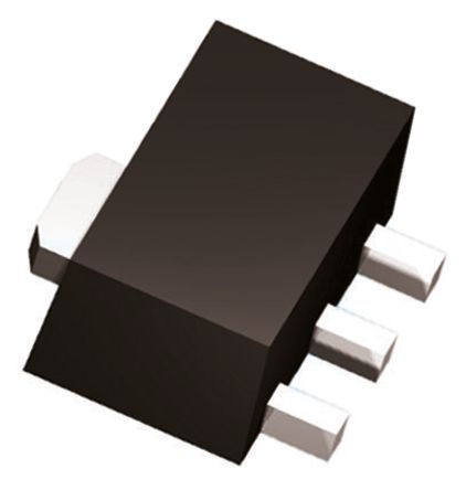 DiodesZetex Diodes Inc, 15 V Linear Voltage Regulator, 100mA, 1-Channel, ±5% 3-Pin, SOT-89 AS78L15RTR-G1 (50)