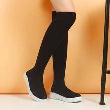 Minimalistische Stiefel mit runder Zehenpartie