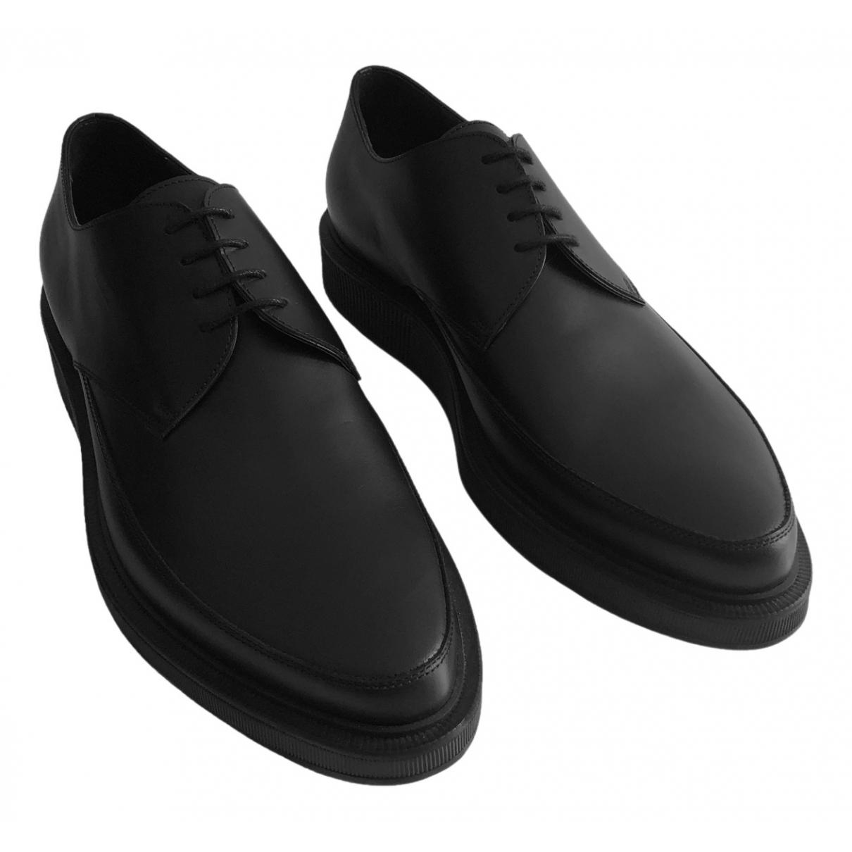 Lanvin - Derbies   pour homme en cuir - noir
