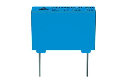 EPCOS 2.2nF Polypropylene Capacitor PP 630V dc ±5% Tolerance B32620 Series (10)