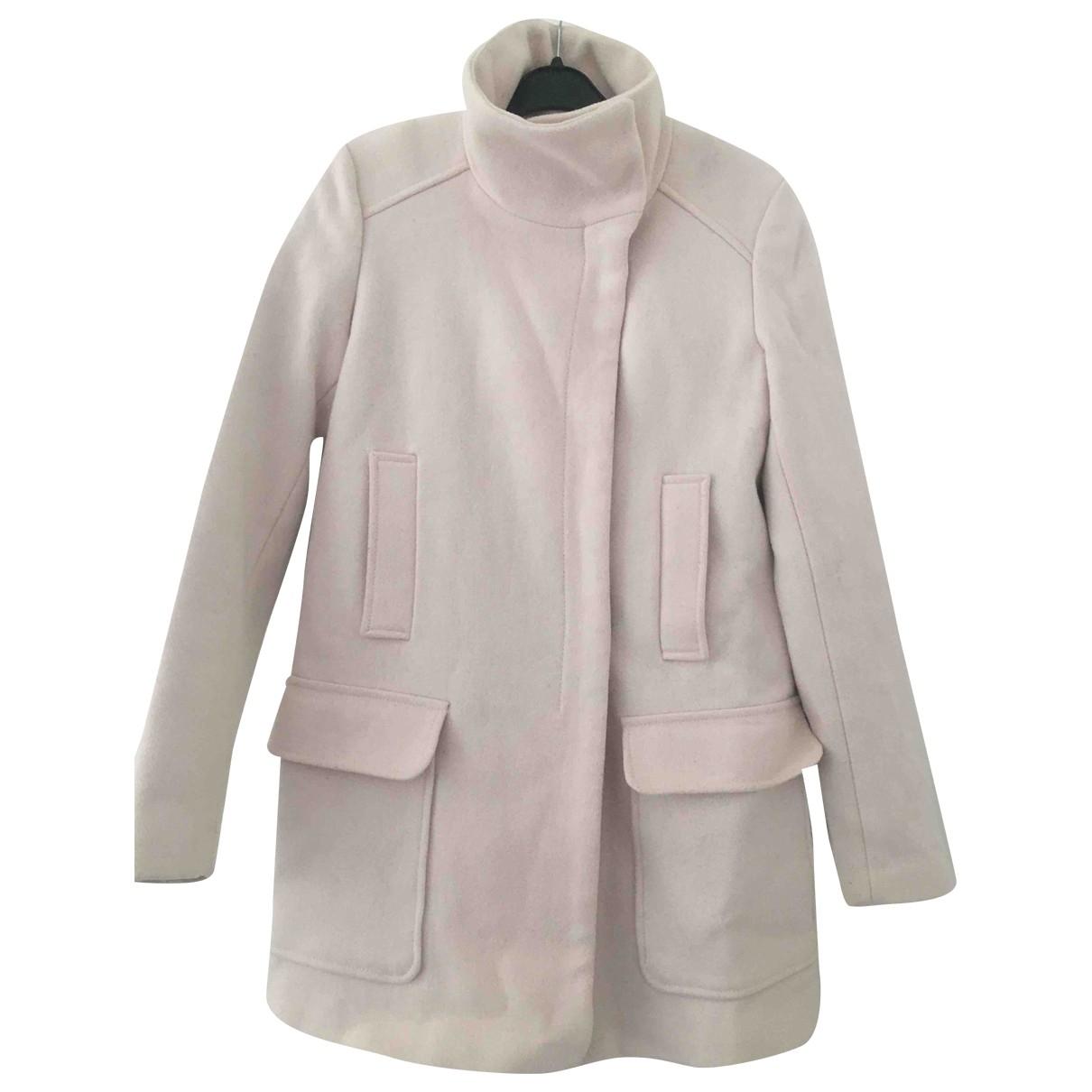Zara - Manteau   pour femme en laine - rose
