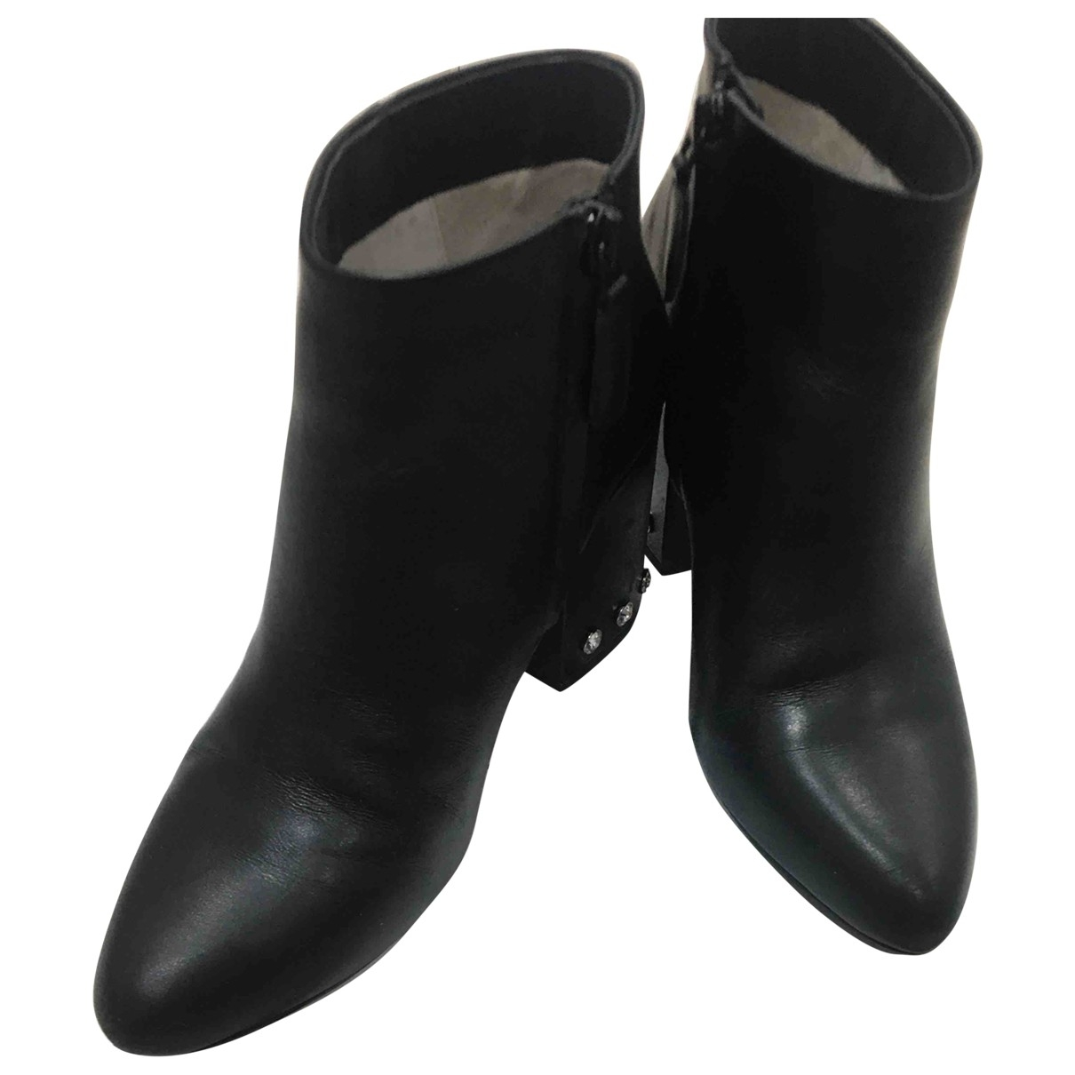 Senso \N Black Leather Ankle boots for Women 37 EU