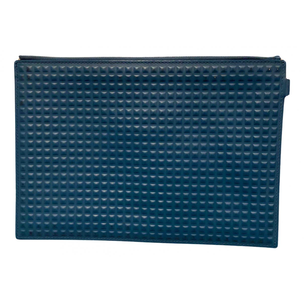 Balenciaga - Petite maroquinerie   pour homme en cuir - bleu