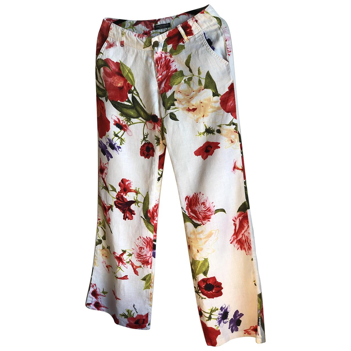 Pantalon recto de Lino Roberto Cavalli
