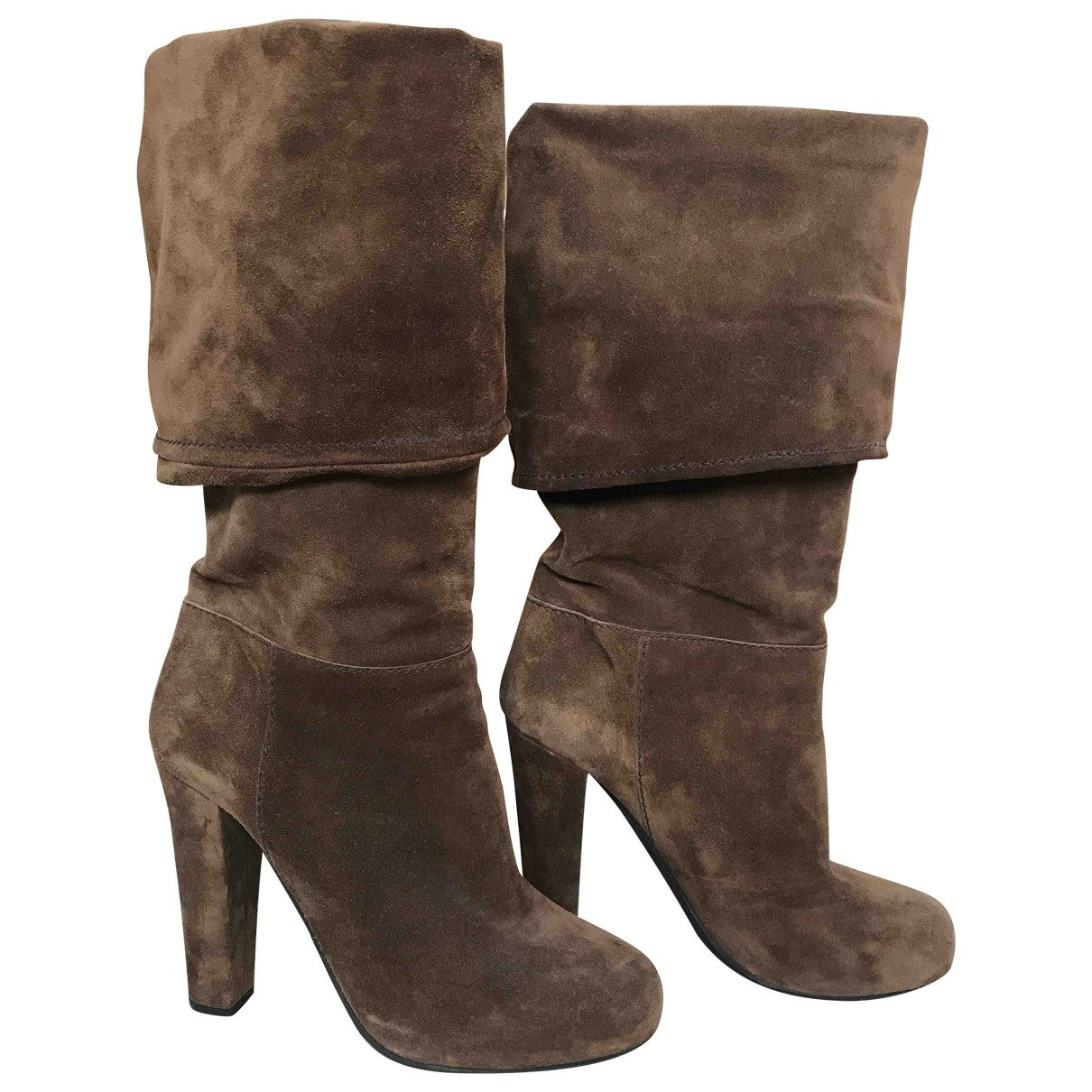 Carshoe \N Brown Suede Boots for Women 38 EU