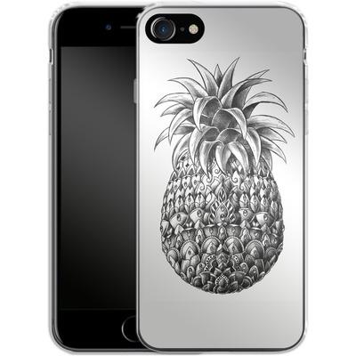 Apple iPhone 7 Silikon Handyhuelle - Ornate Pineapple von BIOWORKZ