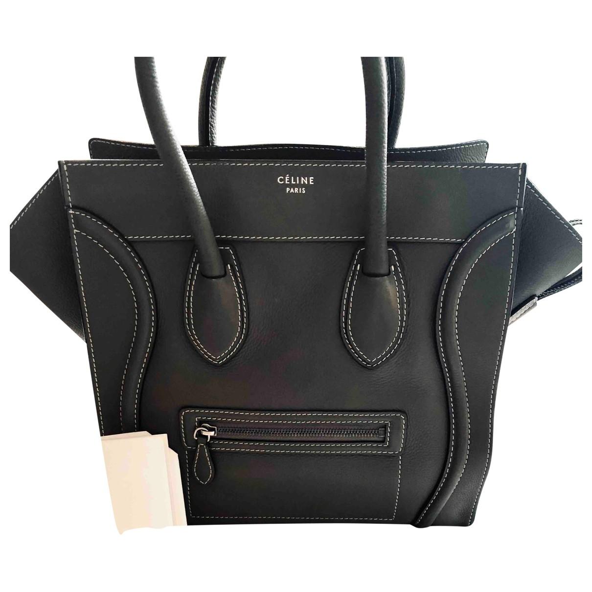 Celine Luggage Handtasche in  Khaki Leder