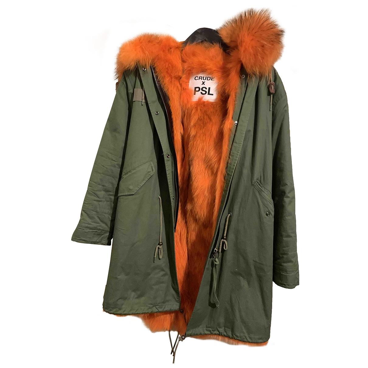 Non Signé / Unsigned \N Khaki Shearling coat for Women M International