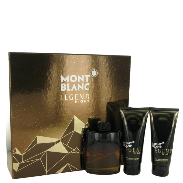 Mont Blanc - Montblanc Legend Night : Gift Box Set 3.4 Oz / 100 ml