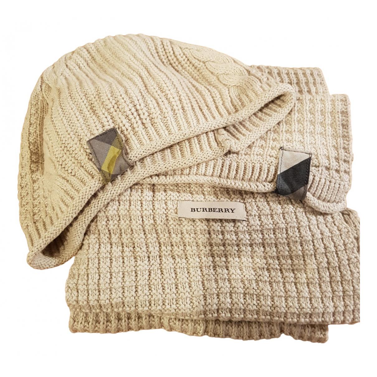 Burberry N Beige Cotton hat for Women M International