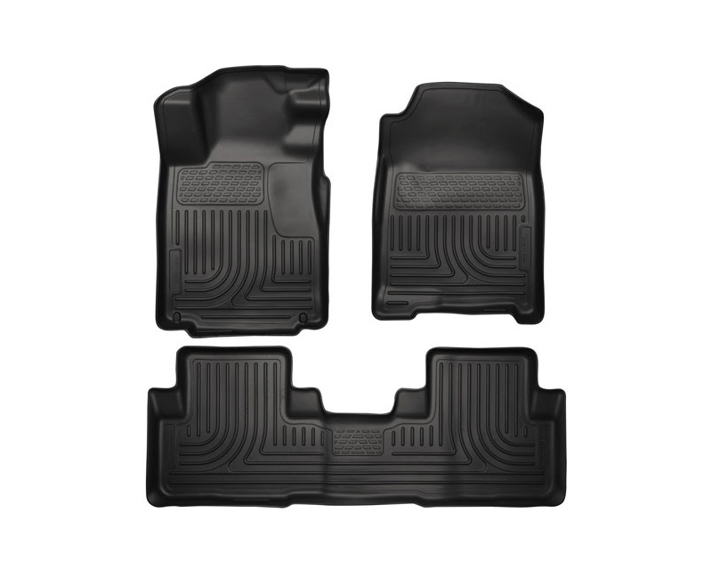 Husky Floor Liners Front & 2nd Row 12-15 Honda CR-V (Footwell Coverage) WeatherBeater-Black