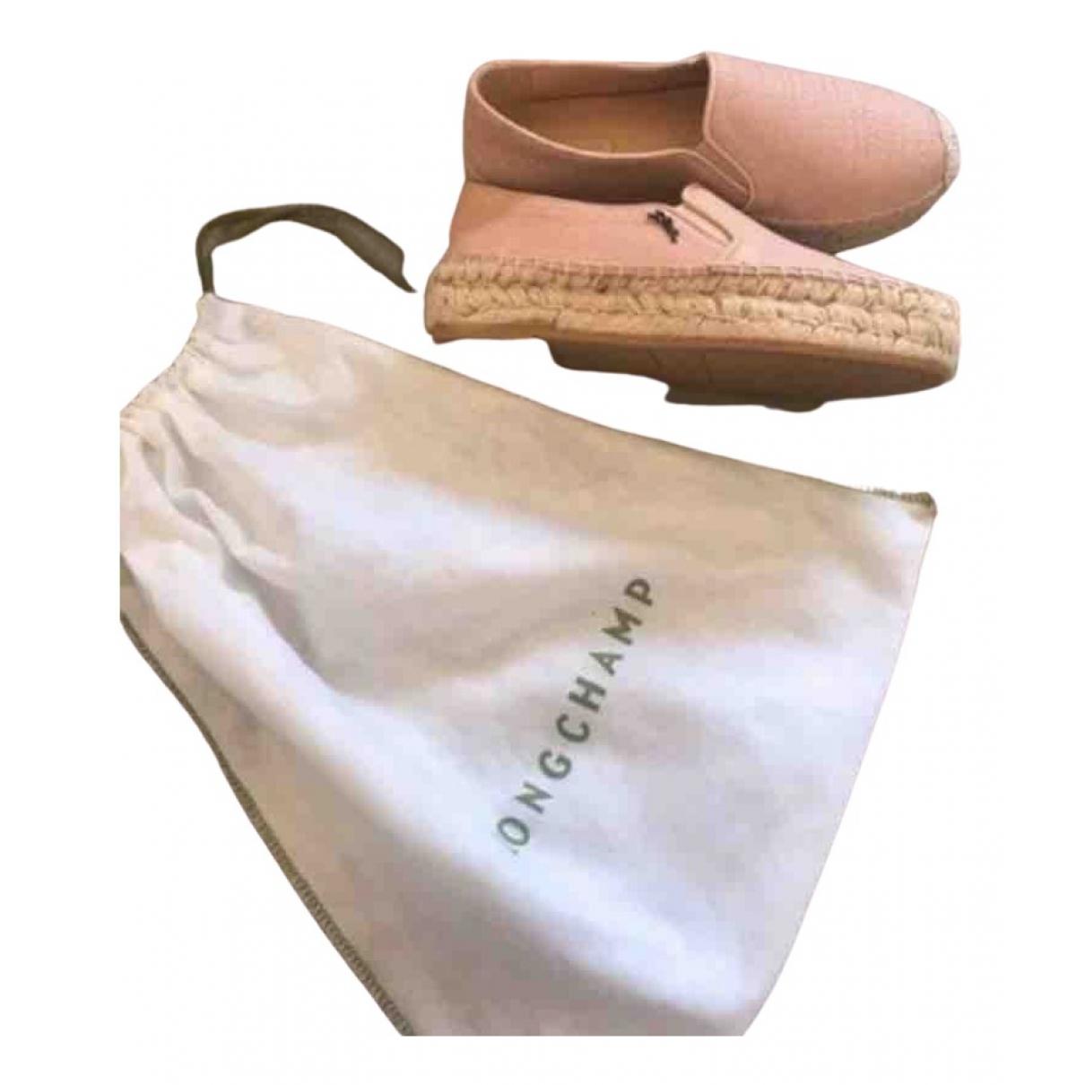 Longchamp \N Espadrilles in  Rosa Leder