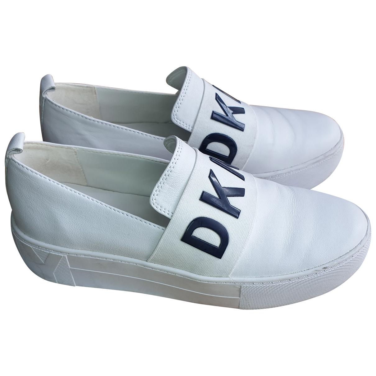 Dkny - Baskets   pour femme en cuir - blanc