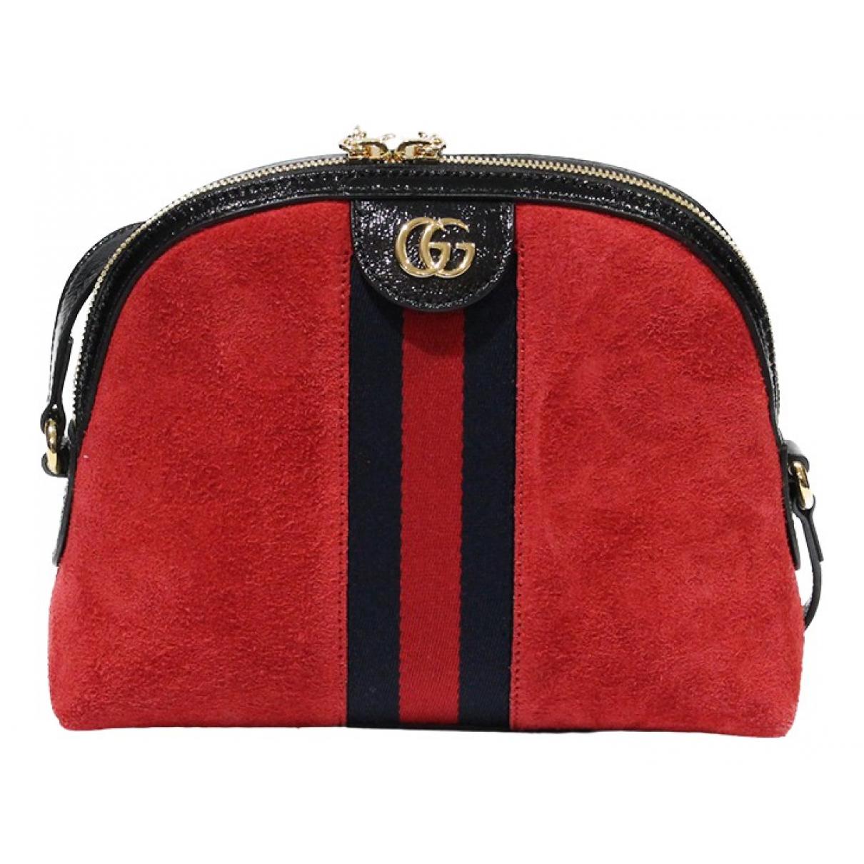 Gucci - Sac a main   pour femme en suede - rouge