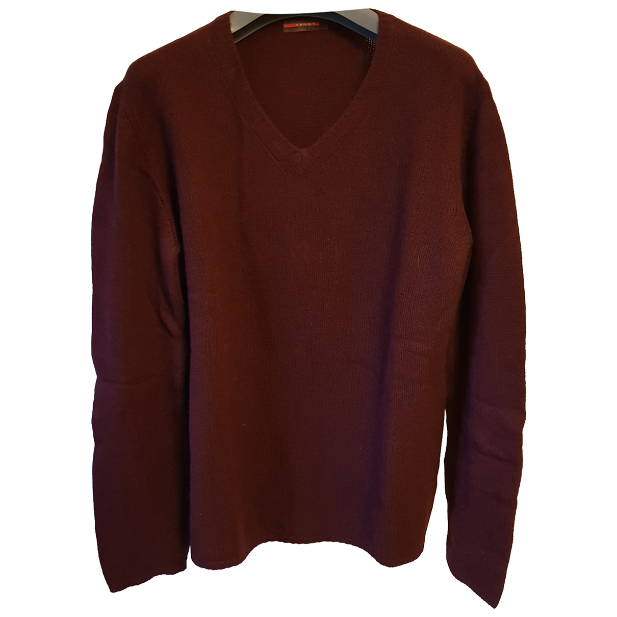 Prada \N Pullover.Westen.Sweatshirts  in  Bordeauxrot Kaschmir