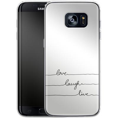 Samsung Galaxy S7 Edge Silikon Handyhuelle - Love, Laugh, Live von Mareike Bohmer