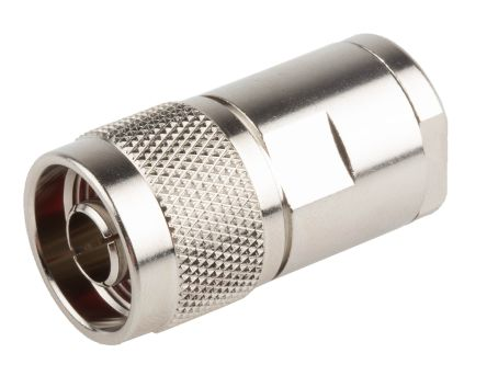 RS PRO Straight 50Ω Cable Mount Coaxial Connector, Plug, Nickel, Solder Termination, URM 67