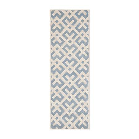 Safavieh Reanna Geometric Hand Tufted Wool Rug, One Size , Blue