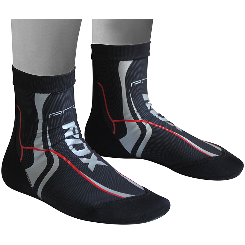 RDX S1 Black Barefoot MMA Training Socks with Silicone Dotted Anti-Slip Grip