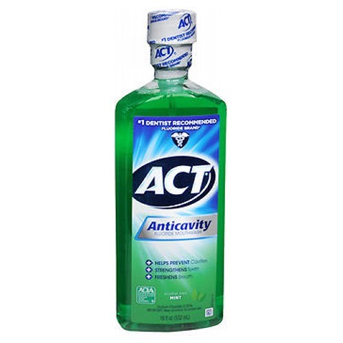 Act Anticavity Fluoride Rinse Alcohol Free Mint 18 oz by Act