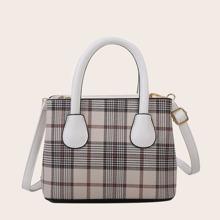 Handtasche mit Plaid Muster