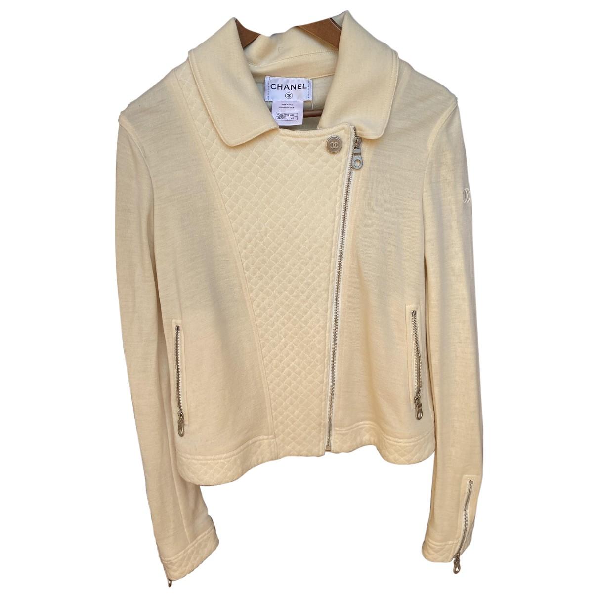 Chanel - Veste   pour femme en laine - beige