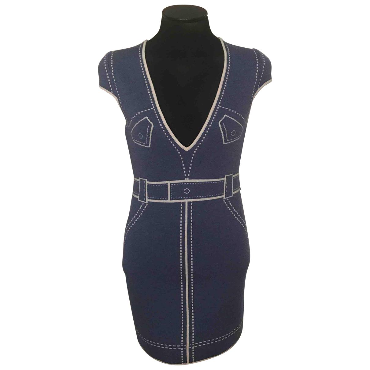 Maryling \N Kleid in  Blau Wolle