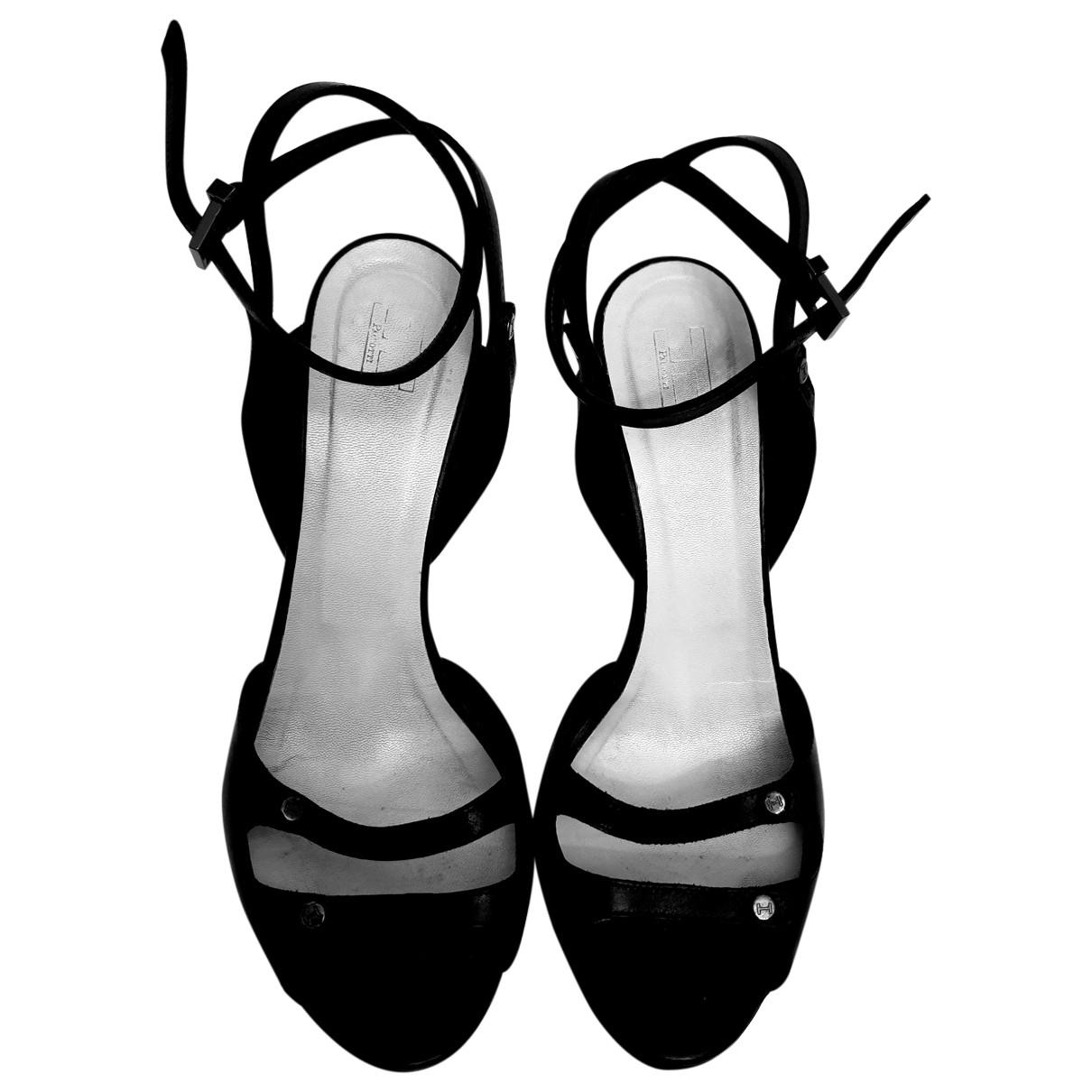 Cesare Paciotti - Sandales   pour femme en cuir - noir