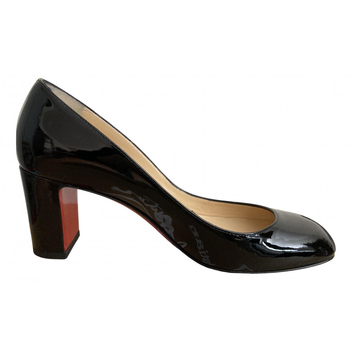 Christian Louboutin N Black Patent leather Heels for Women 36.5 EU