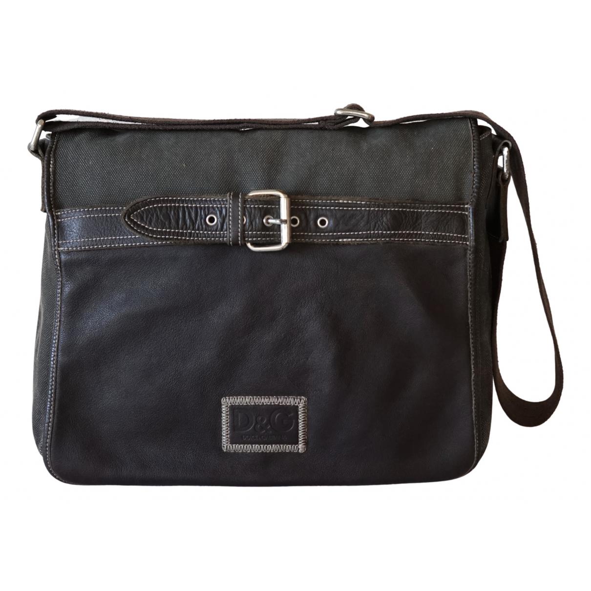 D&g \N Brown Cloth bag for Men \N