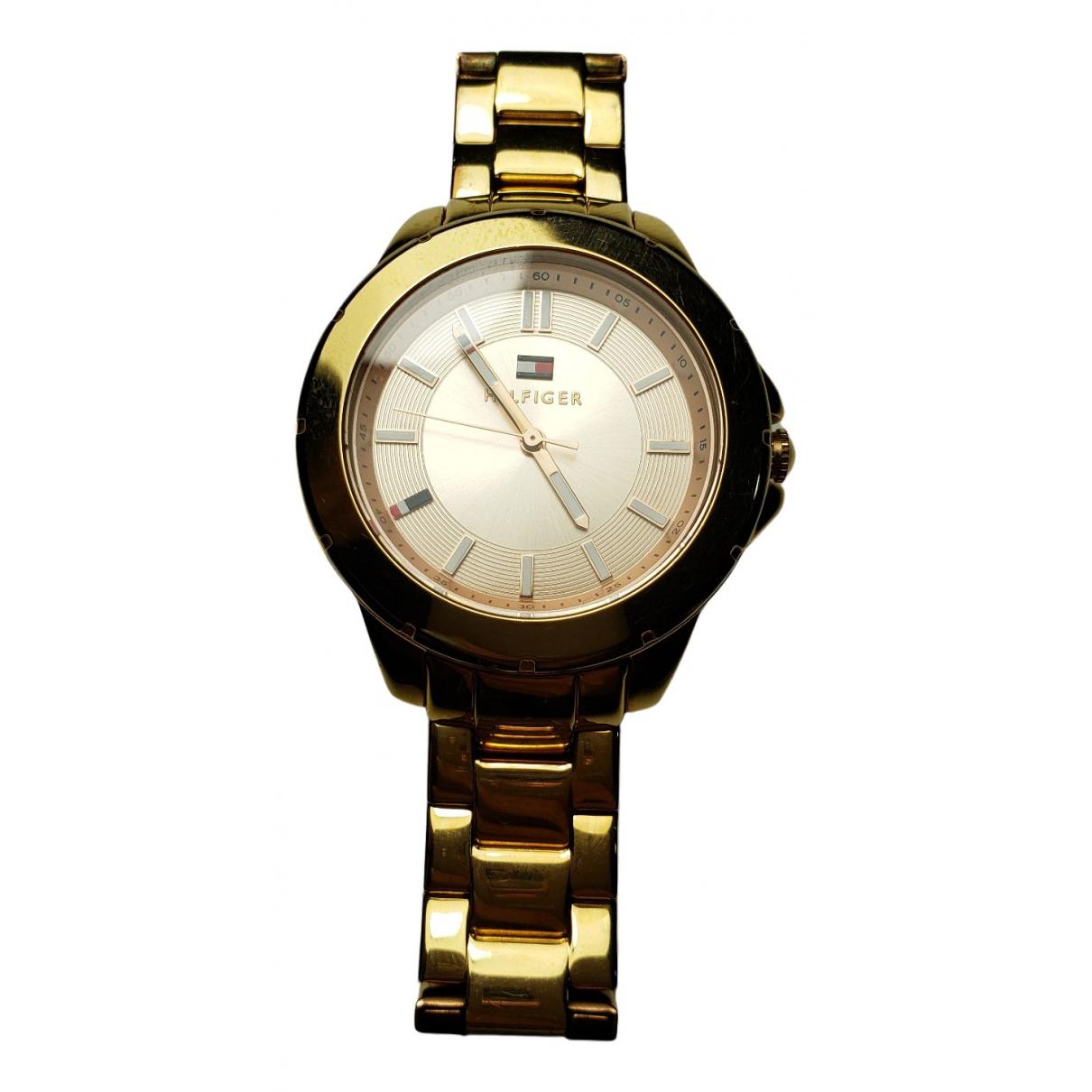 Tommy Hilfiger \N Uhr in  Gold Stahl