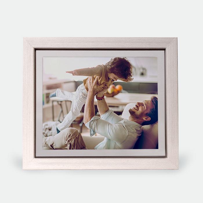 Custom Floating Frame - Rustic White w/ White Backer 8x10 Print, Home Décor