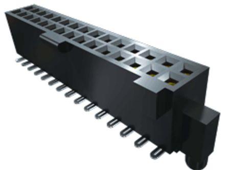 Samtec , SFML 1.27mm Pitch 20 Way 2 Row Vertical PCB Socket, Surface Mount, Solder Termination (35)