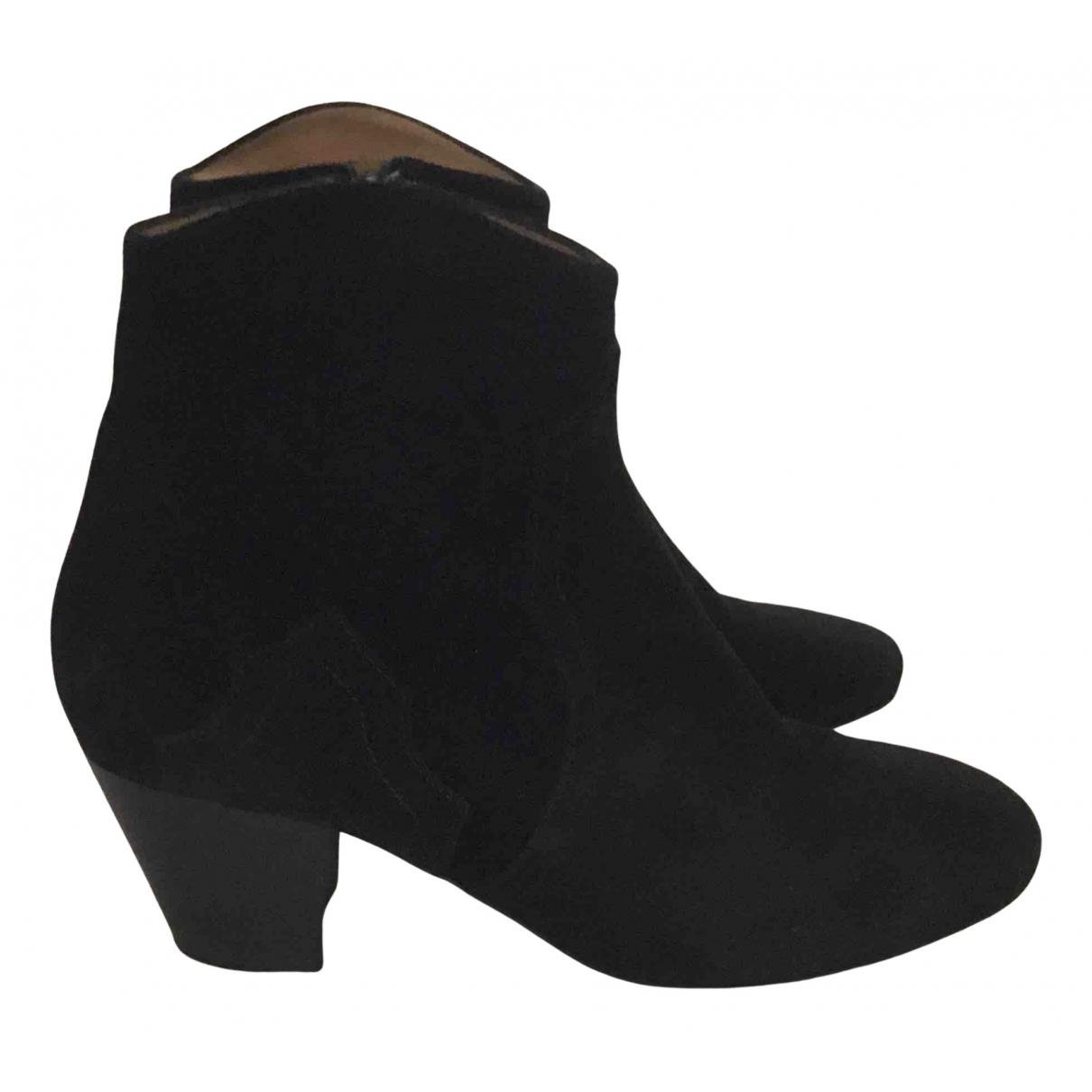 Dondup - Boots   pour femme en suede - noir
