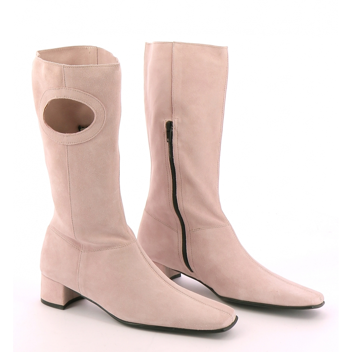Non Signe / Unsigned \N Stiefel in  Rosa Leder