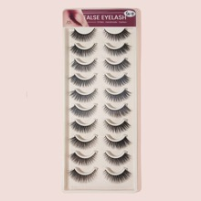 10pairs Thick False Eyelashes