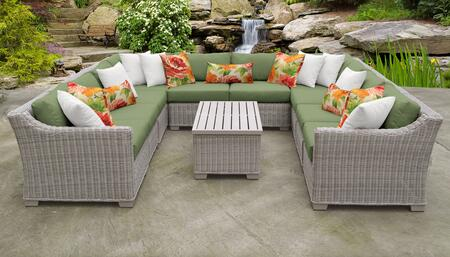 Coast Collection COAST-11a-CILANTRO 11-Piece Patio Set 11a with 2 Corner Chair   6 Armless Chair   1 Storage Coffee Table   1 Left Arm Chair   1