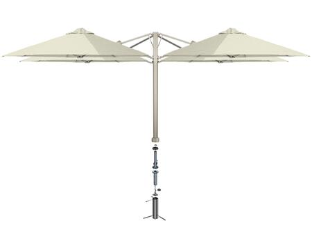 KITP6SQ25QTOGAAW (A) SU6 Quattro 82/2.5m Square Umbrella with In Ground Anchor Fixing in Arctic